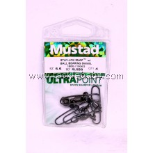 Accessories Mustad SLSnap w BBearing Swivel Sz6.6