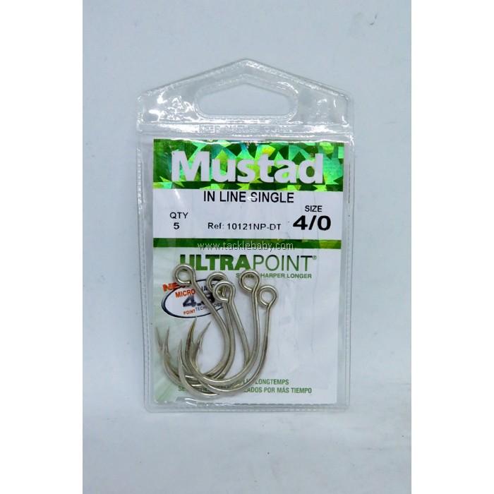 Mustad 10121NP-DT Inline Single Hooks