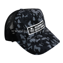 Bone Black Camo Mesh Cap