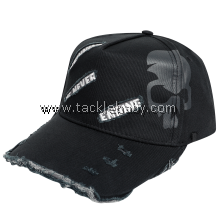 Bone Black Wornout Cap