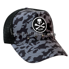 Bone Grey Camo Mesh Cap